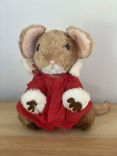 "New listing 1981 Dakin Christmas Mouse Vintage 10"" Plush Soft Toy Stuffed Animal"