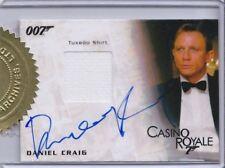 James Bond Mission Logs Autographed Costume Card Daniel Craig
