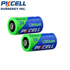 2 CR123A 3V Lithium Camere Batteries CR17345 123A PL123A EL123A Battery  PKCELL