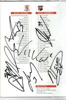 Multi Signed Middlesbrough V Brentford Programme
