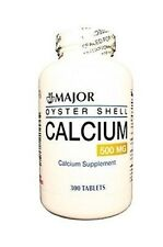Major Oyster Shell 500mg Calcium Supplement, 300 tablets
