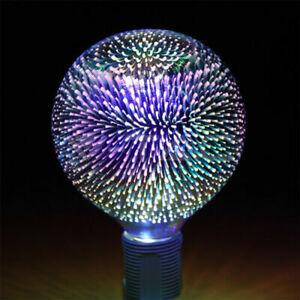 Stunning 3W LED 3D Globe Decor Light Novelty Lamp Filament Fireworks Bulb G125