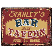 PPBT0106 STANLEY'S BAR and TAVERN Rustic Tin Chic Sign Home Store Decor Gift