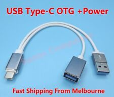 "USB-C OTG Adapter Cable w/ Power For Samsung Galaxy Tab S3 9.7"" SM-T820 T825 AU"