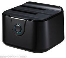 "Dock Station Doble USB 3.0 Tooq TQDS-802 Discos HDD SDD SATA 2.5""/3.5"" USB Host"