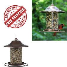 Perky Pet Copper Panorama Bird Feeder Circular Food Dispenser Transparent
