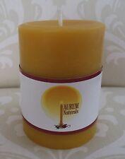 "Handmade 100% Beeswax Candle - 3"" wide x 4"" tall pillar"