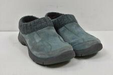 DANSKO Gray Suede EARTHA CLOG Knit Trim Slip-On Mules Shoes 36 5.5-6