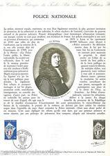 DOC. PHILATÉLIQUE - POLICE NATIONALE - 1976 YT 1907
