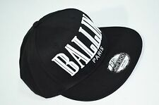 3D Ballin Paris Double Embroidered Old School Snapback Baseball Black Cap Hat