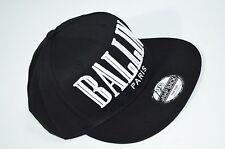 3D Ballin Paris Double Embroidered Old School Snapback Baseball Black Cap Hat