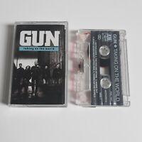 GUN TAKING ON THE WORLD CASSETTE TAPE A&M UK 1989