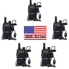5Pcs BaoFeng UV-5R VHF/UHF Dual Band Radio 136-174 400-480Mhz Transceiver VP