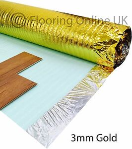 15m2 Deal - 3mm Comfort Gold - Acoustic Underlay For Wood & Laminate - Sonic