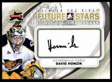2011-12 GOALIEGRAPH DAVID HONZIK AUTO VICTORIAVILLE TIGRES #A-DH