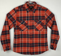 Brixton Red Button Up Flannel Long Sleeve Mens S Small