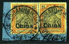 DP China Mi 19 Paar  PA-Briefstück  Shanhaikuan ohne Datum
