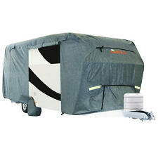 Kingbird 27'-30' Extra-thick 4-Ply Camper Travel Trailer RV Cover & 4 Tire Cover