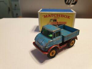 Matchbox Regular No 49B Unimog (Blue version) bonus repro box from the 1960s