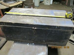 Old Tool or Equipment Box Chest Trunk - Needs TLC