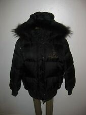 Plus size Womens Black Baby Phat Puffer Jacket, Removable Sleeves Sz.1x, 14, 16