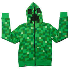 Youth Minecraft Creeper Zip Up Hoodie Size S