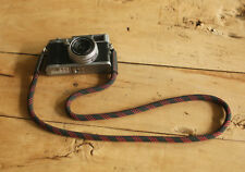 COOL Black Red Spot Climbing rope 10mm black leather handmade Camera strap