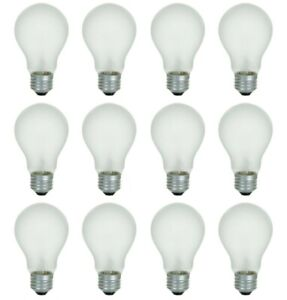 Incandescent Light Bulbs 40 Watt Heavy Duty Frosted Household - 12 Pack