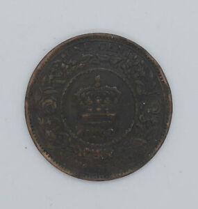 1862 Nova Scotia One cent coin VF-20 condition