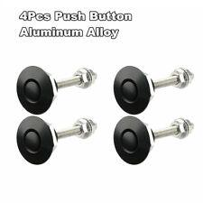 4Pcs Quick Release Push Button Car Hood Bonnet Latch Pin Lock Bumper Clip Black