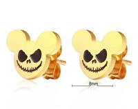 Disney Jack Skeleton Mickey Mouse Earrings Nightmare Before Christmas