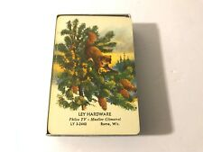 Vintage ROME WISCONSIN LEY Hardware Advertising Deck Of Playing Cards Complete
