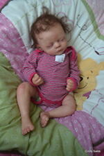 Ooak Reborn newborn real life  baby girl Claire     Baby art doll