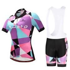 2018 Ladies Cycling Short Set Women's Bike Cycle Jersey Padded (Bib) Shorts Kit