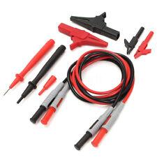 Multimeter Test Lead Kit Electrical Fluke Tester Set Banana Needle Probe Wire