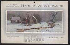 1911 Postcard Defiance Oh/Ohio Harley & Whitaker Store Calendar Promo Ad