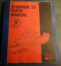 1973 SCORPION SNOWMOBILE PARTS MANUAL USED  (726)