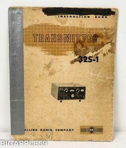 Collins 32S-1 Transmitter Original User Manual