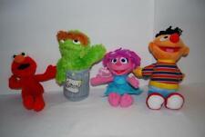 "Sesame Street Plush Lot Abby Ernie Elmo Oscar 9"" Fisher Price Applause"