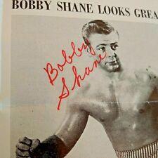 Wrestling Arena Program Houston Territory 1971 Boesch BOBBY SHANE Autographed