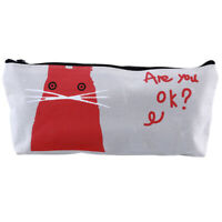 Creative Animal Zipper Pouch Pencil Case Box School Stationery Cosmetic Bag LD