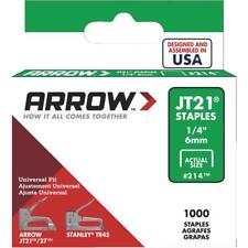 5 Pk High-Performance Arrow Jt21 Light Duty Staple, 1/4 In. L. (1000-Pack)