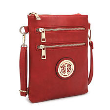 New Dasein Womens Handbags Leather Crossbody Bag Messenger Bags Travel Day Purse