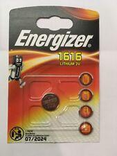 2x Energizer 1616 Lithium 3V CR1616 DL1616 V1616