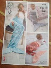 King Cole Crochet Double Tricot Modèle Pour Sirène/Queue-de-pie - 4908