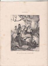 Bourbon-l'Archambault  Achille Allier l'Artiste  GRAVURE ANTIQUE PRINT 19 eme