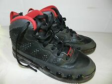 MENS BLACK BASKETBALL SHOES = NIKE AIR = SIZE 6Y high tops