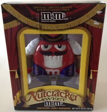 M&Ms Limited Edition Christmas Candy Dispenser Nutcracker Plastic Red New NIB