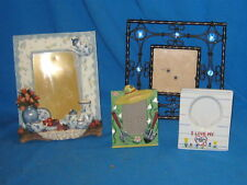 LOT OF 4 NOVELTY PICTURE FRAMES