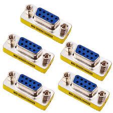 5pcs DB9 Female to Female Adapter Adaptor Gender Changer Serial RS232 Coupler